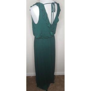 LOFT Emerald Green Tassel Maxi Dress
